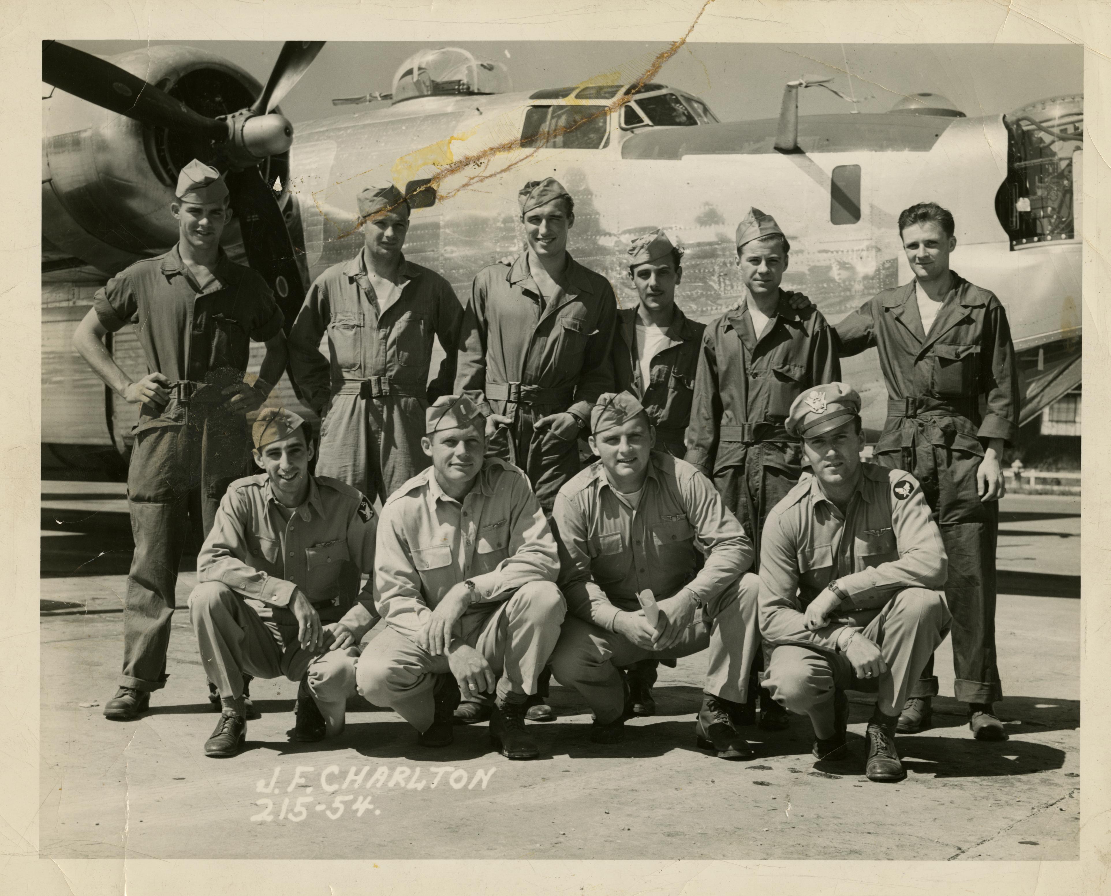 Harold Glasser with Flight Crew