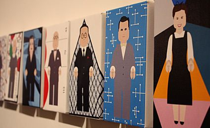 art gallery image, portraits display