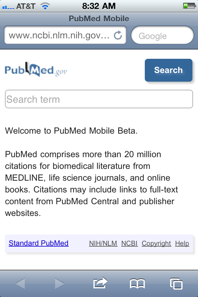 PubMed Mobile (Beta)