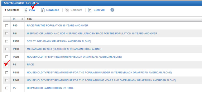 factfinder 2 choosing population attributes