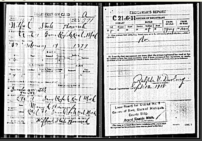 World War 1 Draft Registration