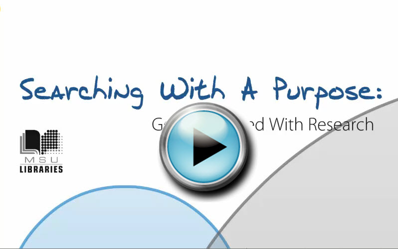 Searching With A Purpose video
