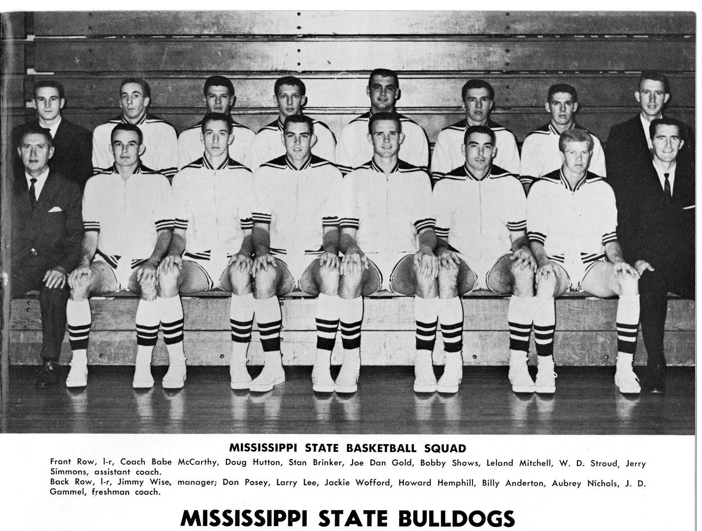 1962-1963 Mississippi State University Basketball Team