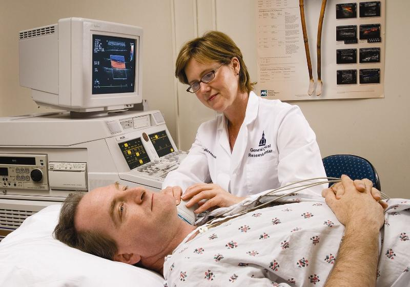 Photo of doctor examining a patient