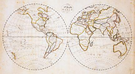 1811 world map