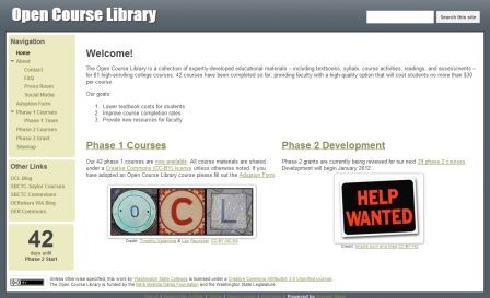 Open Course Library website