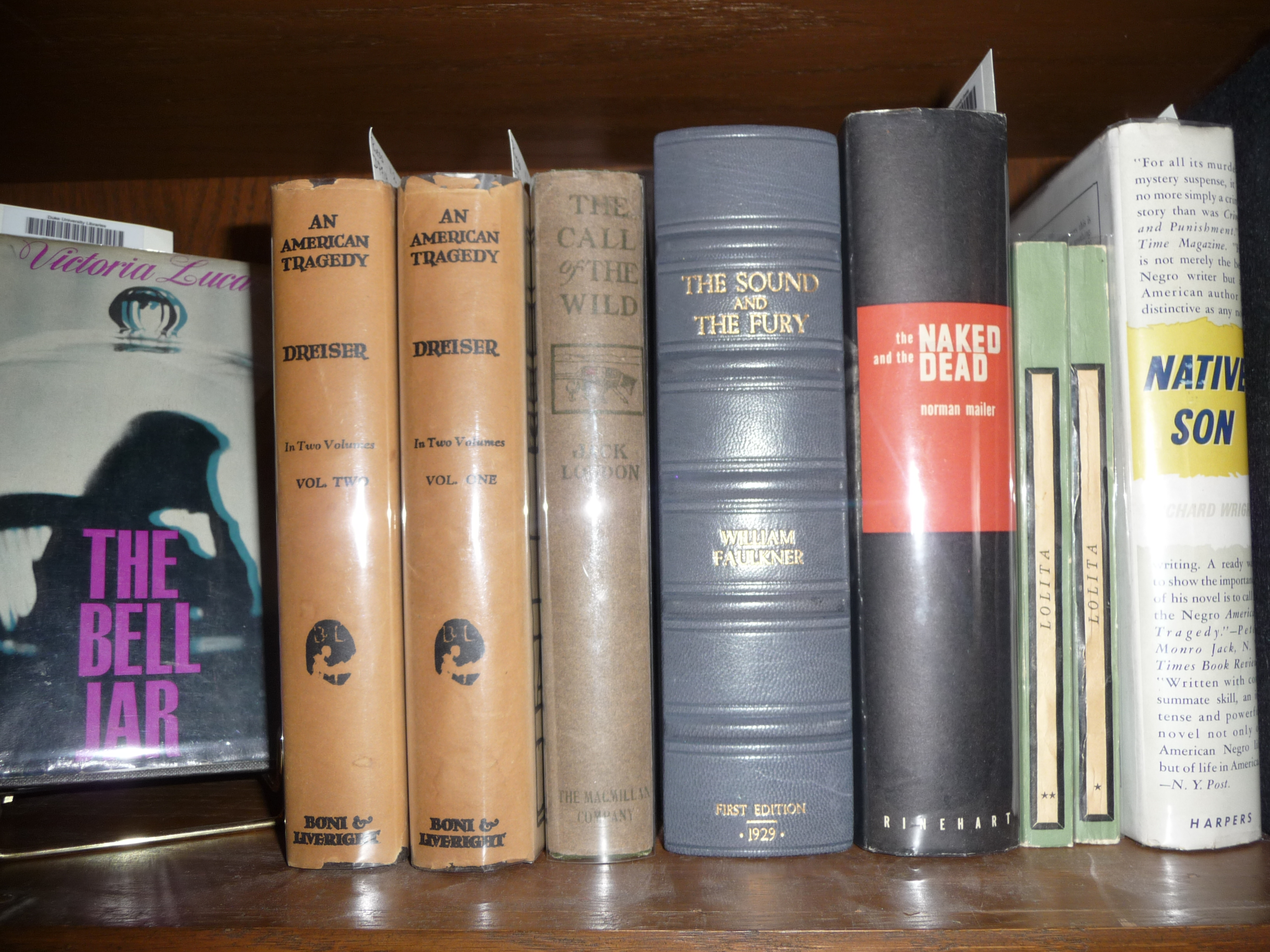 Books from the Riess Collection, Duke University Special Collections.