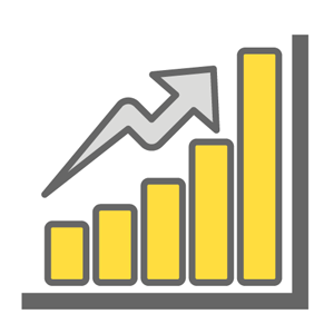 Textbook Cost Bar Graph Icon