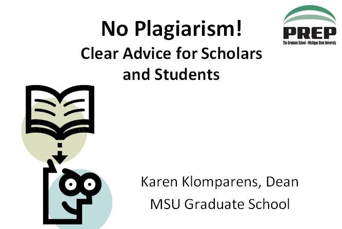 No plagiarism!