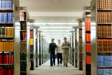 Image of journals in a library