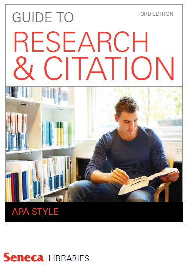 Cover of Seneca Libraries' Guide to Research & Citation, MLA Style