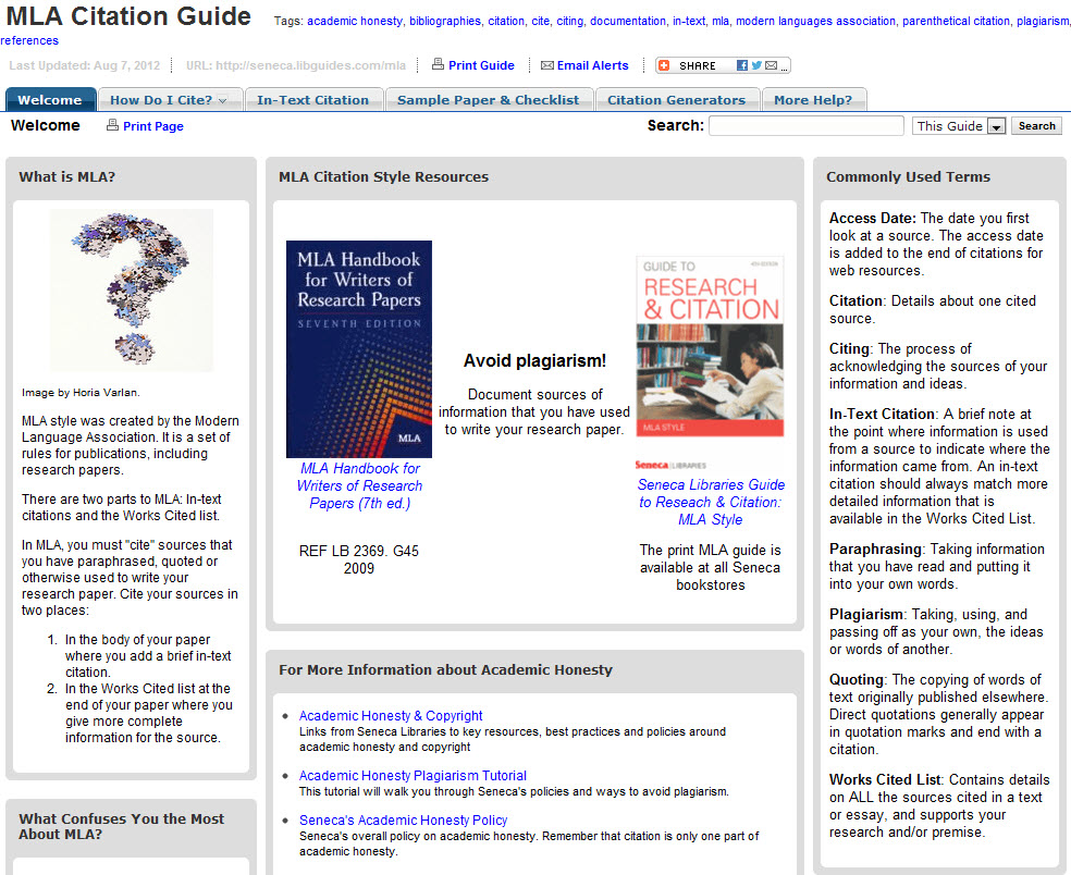 MLA Citation Guide Online