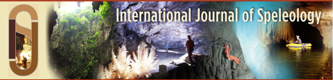 International Journal of Speleology banner