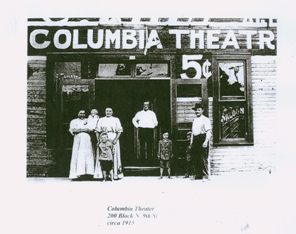 Columbia Theatre, Clinton, Indiana circa 1915