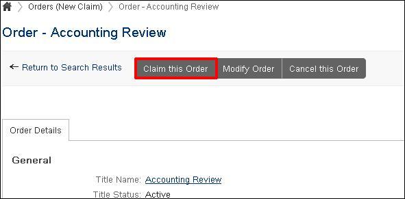 claim this order