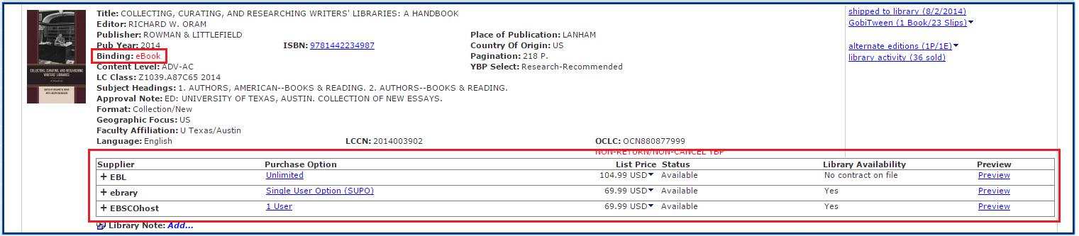 ebook title record