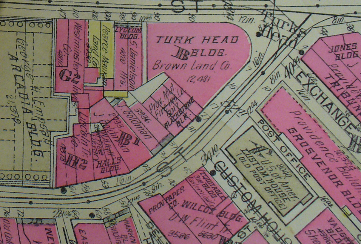 turks head building from 1926 plat map