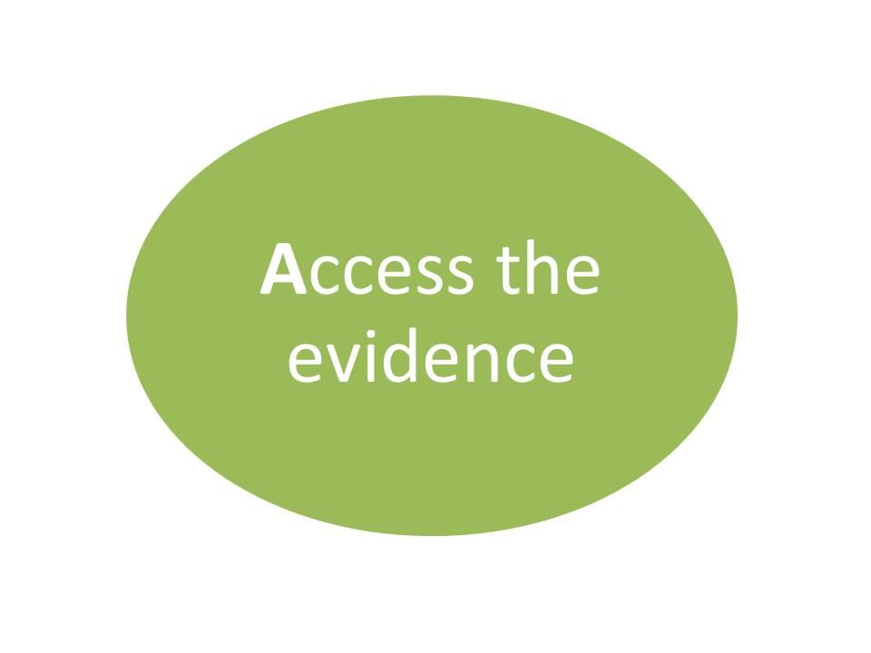 Access the evidence