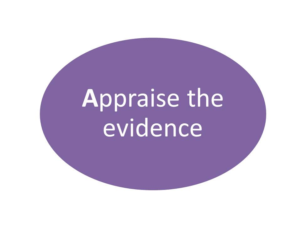 Appraise the evidence