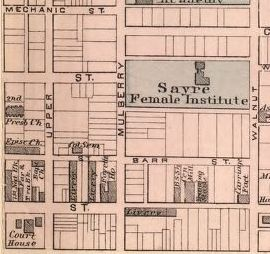 From a map of Lexington 1877