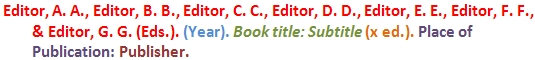 Example of a Edited Book Reference List Entry