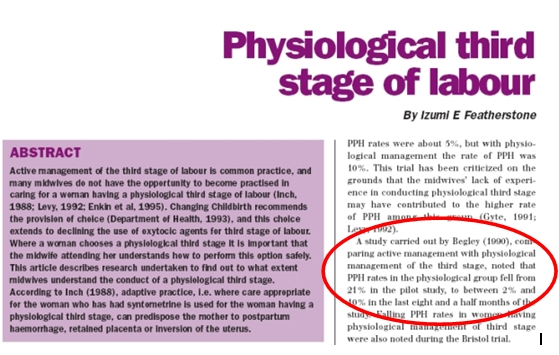 Clip from Physiological third stage of labour