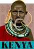 Picture of Masaai tribeswoman from Kenya.