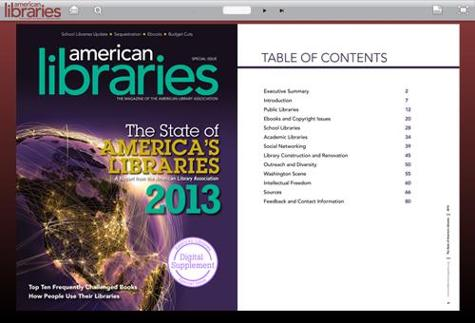 State of America's Libraries 2013: A report from the American Library Association