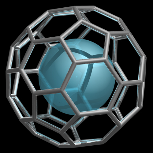 Endohedral fullerane structure