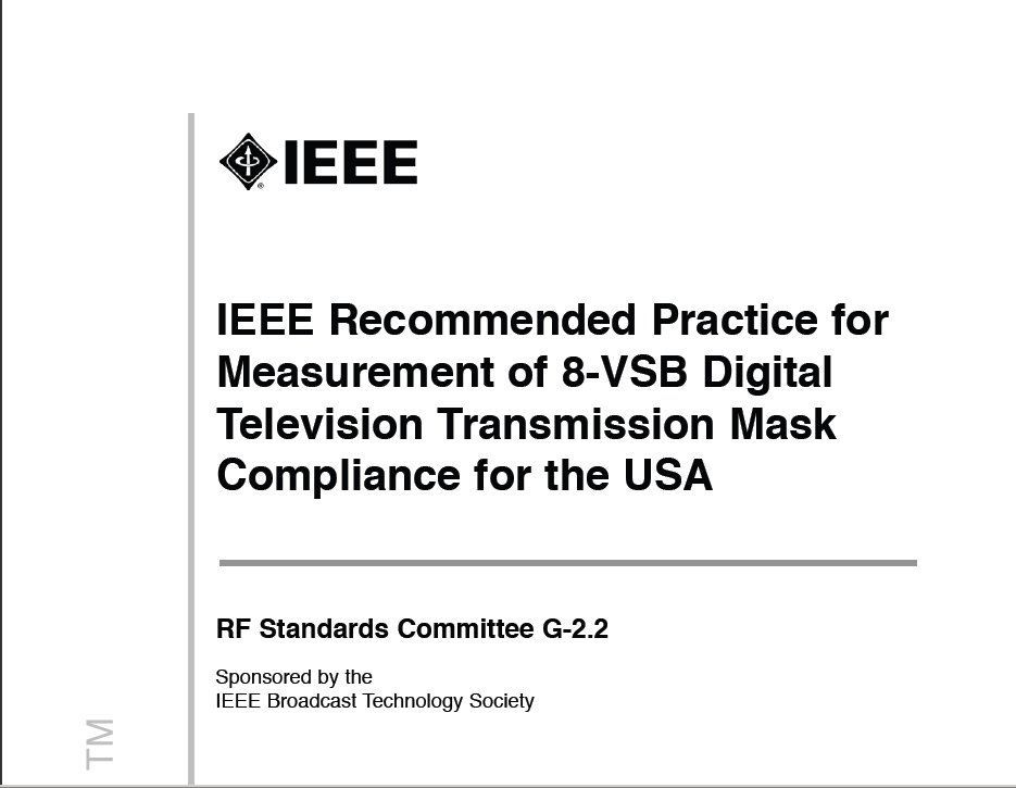 Title page of sample IEEE standard