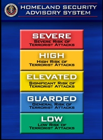 Homeland security threat level image