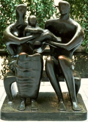"Henry Moore ""Family Group"" sculpture image"