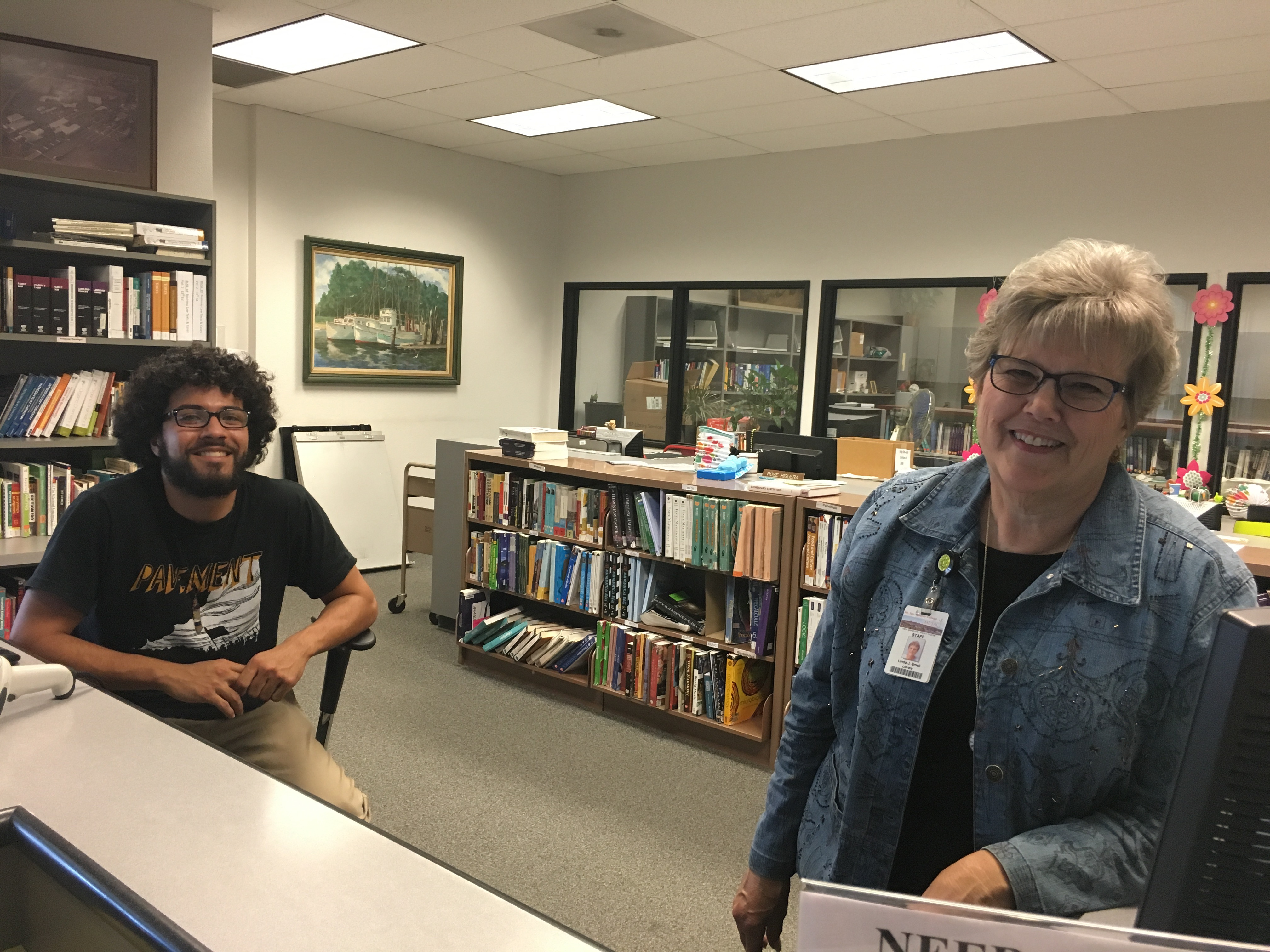 Picture of smiling library staff