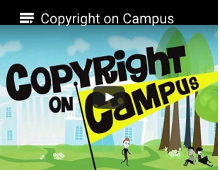 Copyright on Campus video cover