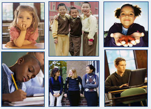 collage of children