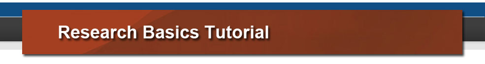 Research Basics Tutorial Header