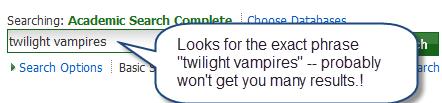 Twilight Vampires search
