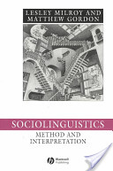 Sociolinguistics: Method and Interpretation