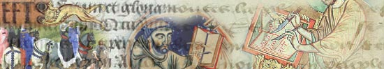 Collage of Medieval figures writing