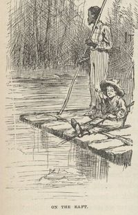 Huck and Jim on the raft