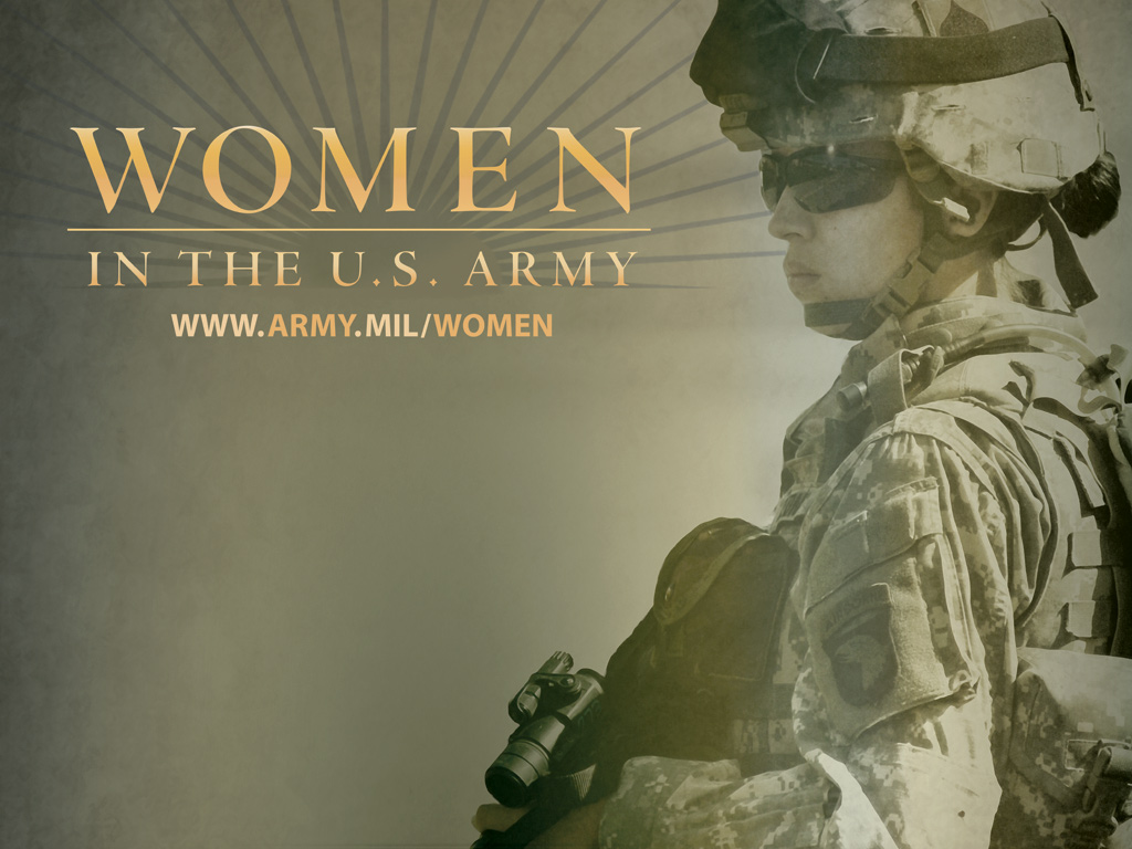 Women in the U.S. Army Picture of Female Soldier from www.army.mil/women