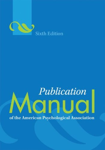Image of the cover of the APA Publication Manual, sixth edition