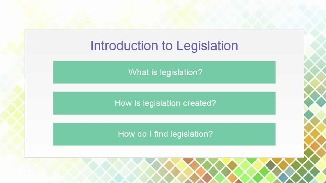 Intro to Legislation Vide