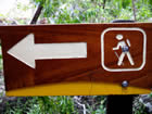 Photo of hiking track sign