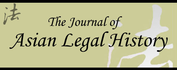 Journal of Asian Legal History (Wally Johnson)