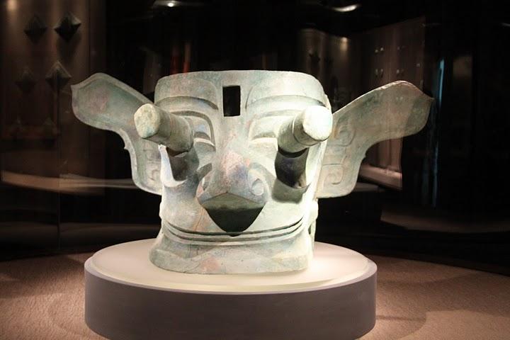 Sanxingdui bronze mask by Gary Todd