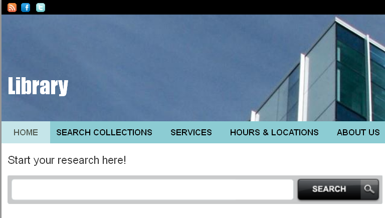 Library Search Box