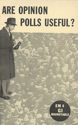 """Cover image of """"Are Opinion Polls Useful?"""" government document"""