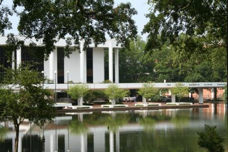 Cooper Library and reflecting pool