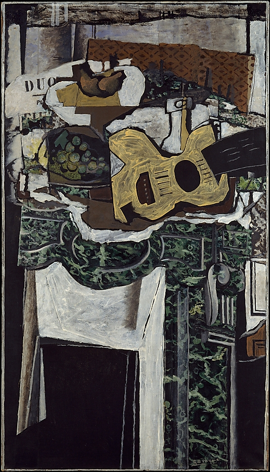 Guitar and Still Life on a Mantelpiece-Georges Braque